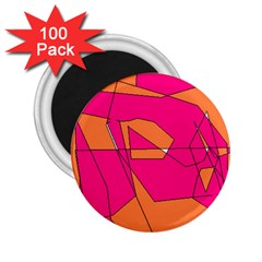 Red Orange 5000 2 25  Button Magnet (100 Pack)