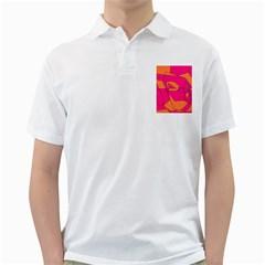Red Orange 5000 Men s Polo Shirt (white)