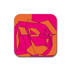 Red Orange 5000 Drink Coasters 4 Pack (square)