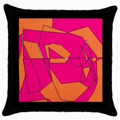 Red Orange 5000 Black Throw Pillow Case