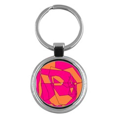 Red Orange 5000 Key Chain (round)