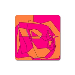 Red Orange 5000 Magnet (square)