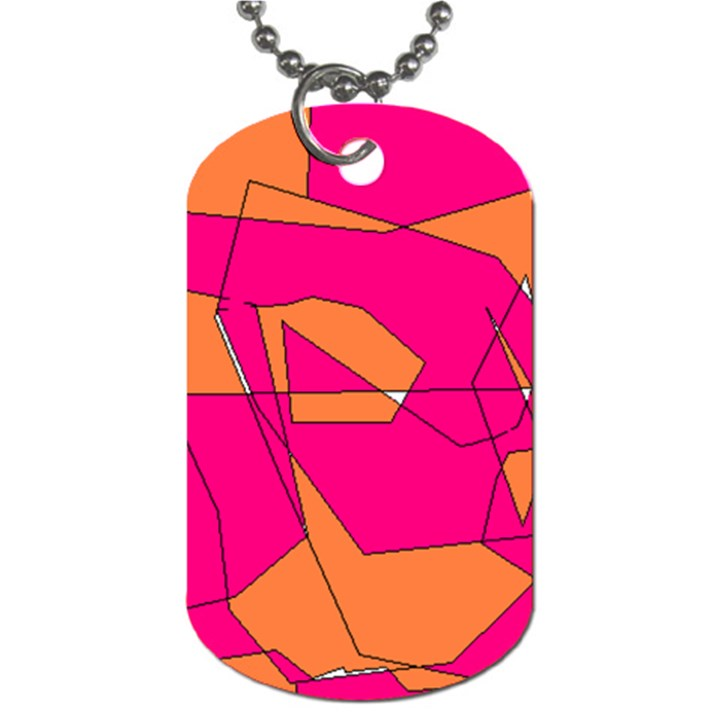 Red Orange 5000 Dog Tag (Two-sided)