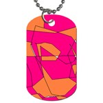 Red Orange 5000 Dog Tag (Two-sided)  Back