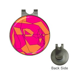 Red Orange 5000 Hat Clip With Golf Ball Marker