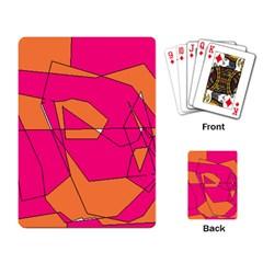 Red Orange 5000 Playing Cards Single Design