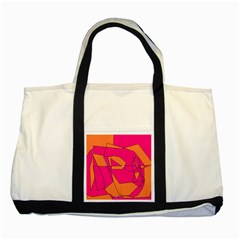 Red Orange 5000 Two Toned Tote Bag
