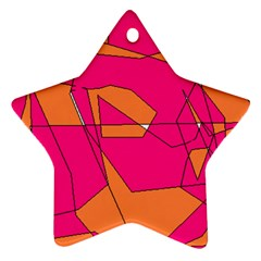 Red Orange 5000 Star Ornament (two Sides)