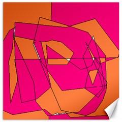 Red Orange 5000 Canvas 20  X 20  (unframed)