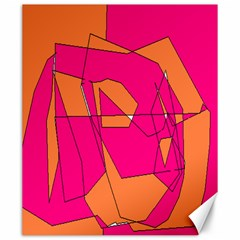 Red Orange 5000 Canvas 20  X 24  (unframed)