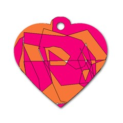 Red Orange 5000 Dog Tag Heart (one Sided)