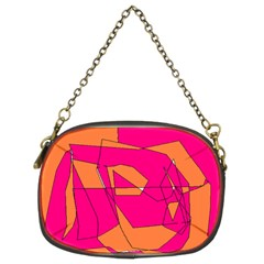 Red Orange 5000 Chain Purse (two Sided)