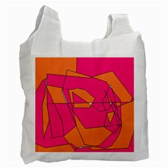 Red Orange 5000 White Reusable Bag (two Sides)