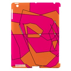 Red Orange 5000 Apple iPad 3/4 Hardshell Case (Compatible with Smart Cover)