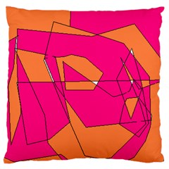 Red Orange 5000 Large Cushion Case (Single Sided)
