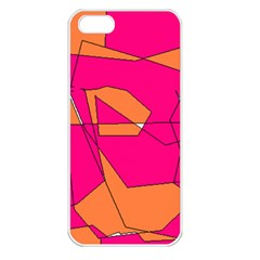 Red Orange 5000 Apple iPhone 5 Seamless Case (White)