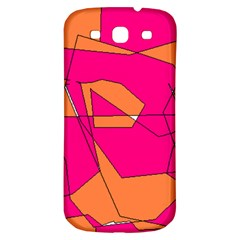 Red Orange 5000 Samsung Galaxy S3 S III Classic Hardshell Back Case