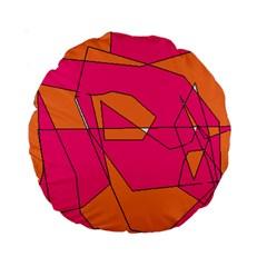 Red Orange 5000 Standard 15  Premium Round Cushion