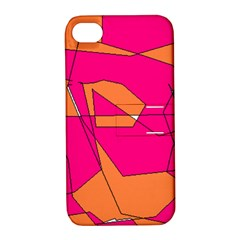 Red Orange 5000 Apple iPhone 4/4S Hardshell Case with Stand