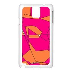 Red Orange 5000 Samsung Galaxy Note 3 N9005 Case (white)