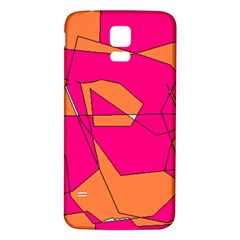 Red Orange 5000 Samsung Galaxy S5 Back Case (White)