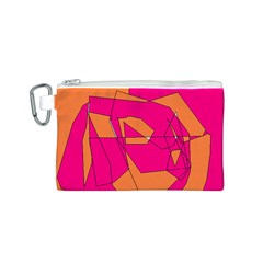 Red Orange 5000 Canvas Cosmetic Bag (small)