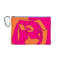 Red Orange 5000 Canvas Cosmetic Bag (Medium)