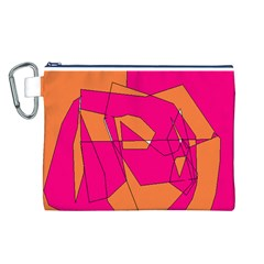 Red Orange 5000 Canvas Cosmetic Bag (Large)