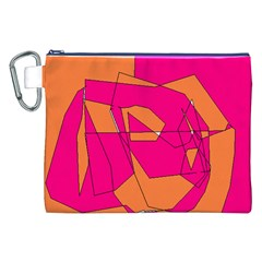 Red Orange 5000 Canvas Cosmetic Bag (XXL)