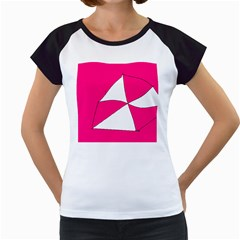 Pink White Art Kids 7000 Women s Cap Sleeve T Shirt (white)