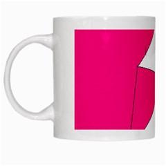 Pink White Art Kids 7000 White Coffee Mug