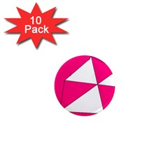 Pink White Art Kids 7000 1  Mini Button Magnet (10 Pack)