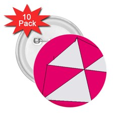 Pink White Art Kids 7000 2 25  Button (10 Pack)
