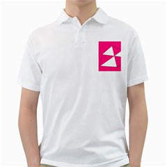 Pink White Art Kids 7000 Men s Polo Shirt (white)