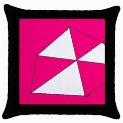 Pink White Art Kids 7000 Black Throw Pillow Case