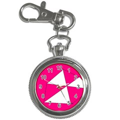 Pink White Art Kids 7000 Key Chain Watch