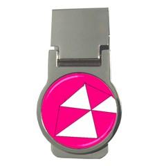 Pink White Art Kids 7000 Money Clip (round)
