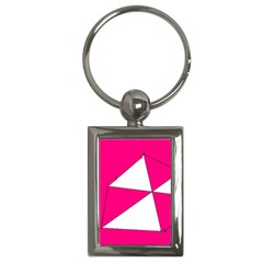 Pink White Art Kids 7000 Key Chain (rectangle)