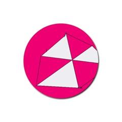 Pink White Art Kids 7000 Drink Coaster (round)