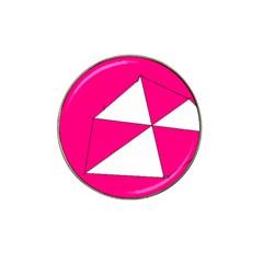Pink White Art Kids 7000 Golf Ball Marker 10 Pack (for Hat Clip)