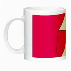 Pink White Art Kids 7000 Glow In The Dark Mug