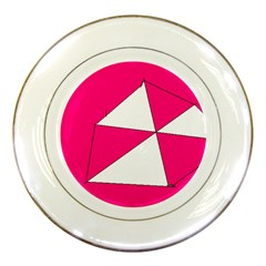 Pink White Art Kids 7000 Porcelain Display Plate