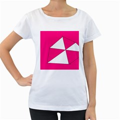 Pink White Art Kids 7000 Women s Loose Fit T Shirt (white)