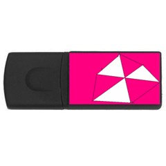 Pink White Art Kids 7000 4gb Usb Flash Drive (rectangle)