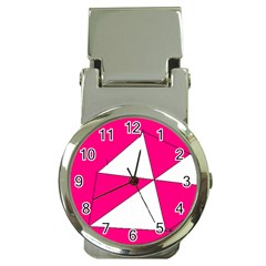 Pink White Art Kids 7000 Money Clip With Watch