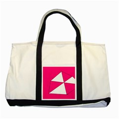 Pink White Art Kids 7000 Two Toned Tote Bag