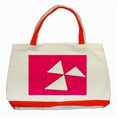 Pink White Art Kids 7000 Classic Tote Bag (red)