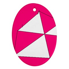 Pink White Art Kids 7000 Oval Ornament (two Sides)