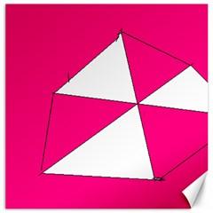 Pink White Art Kids 7000 Canvas 20  X 20  (unframed)