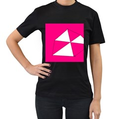 Pink White Art Kids 7000 Women s T-shirt (Black)